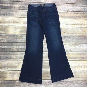 {Lucky Brand}Rancher Wide Leg Trouser Jean Sz 0/25